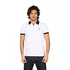 Polo T-shirt men's Sweater men Fred Perry Made in Italy neck blue V0032