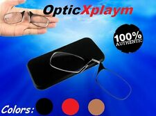 100% Authentic OPTICS Xplaym Metal Reading Glasses Strength Nose Case Nooze Thin