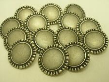 New Lots of Italian Silver Metal Buttons sizes 11/16'' 7/8'' 1 1/16'' # SK