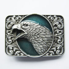 Men Buckle Bald Eagle Head Ornate Belt Buckle Gurtelschnalle Boucle de ceinture