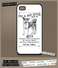 Akita dog phone case cover iPhone Samsung ~ Personalised FREE