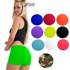 Ladies Womens Sexy Stretchy Neon Lycra Hot Pants Dance Party Gym Summer Shorts ■