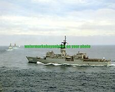 USN Frigate USS BARBEY FF-1088 Color Photo Military FF 1088 Navy Ship 1990 VET
