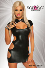 Sexy Mini Dress découpes Buckle Wetlook Fetish Erotic Gogo Clubwear XS S M L XL