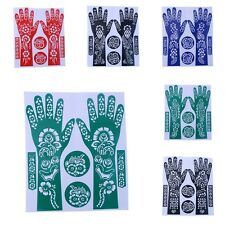 DIY India Henna Cut Stencil Temporary Tattoo Stencils Hand Foot Body Art Sticker