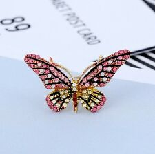 Fashion Butterfly Brooches Crystal Womens Jewelry free shipping