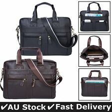 Men's Retro Leather Messenger Shoulder Bag Satchel Laptop Briefcase Business New