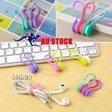 3Pcs/Set Magnetic Headphone Earphone Cable Winder Cord Wire Organizer Wrap MP