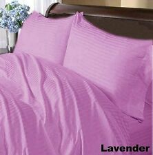 LAVENDER STRIPED ALL BEDDING ITEMS 1000TC 100%EGYPTIAN COTTON US-FULL SIZE