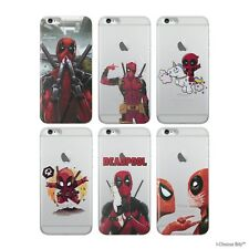 """Deadpool Case/Cover Apple iPhone 6 6s (4.7"""") + Screen Protector / Gel Silicone"""