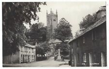 ALTARNUN Cornwall, View in the Village, RP Postcard by Overland, Unused