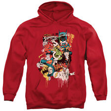 DC Comics DRIPPING CHARACTERS Justice Leage Licensed Sweatshirt Hoodie