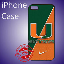 Miami Hurricanes Official Athletic Case Cover iPhone 8 8+ 7+ 6s+ 6+ SE 5c 5s #ED
