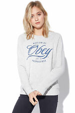 New OBEY Womens OBEY Womens Note Script Crew Ash Heather