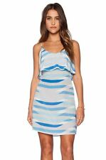 NEW Joie Sleeveless Parthena Geometric Shift Dress in Color Oasis