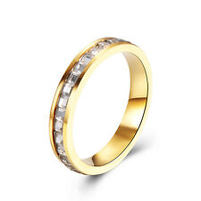 14K Gold filled  Square CZ Mens Jewelry Wedding Band Ring Size 8 9 Unisex