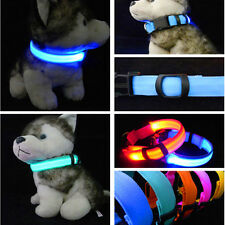 Nylon Pet LED Dog Collar Night Safety LED Flashing Glow LED Pet Supplies Pet Cat