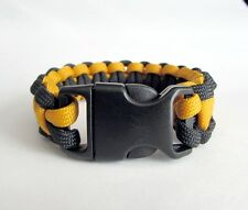 Pittsburgh Steelers Team Colors Paracord Bracelet - Yellow and Black