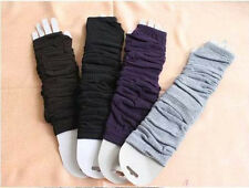 Fingerless Long Gloves Arm Warmers Approx 30cm Black Gray Brown White Red Colors