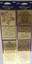 """Plaid Solid brass embossing stencil template card making 3"""" square craft"""