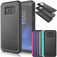 For Samsung Galaxy S8 / S8 Plus PC Shockproof Slim Hybrid Rubber Hard Cover Case