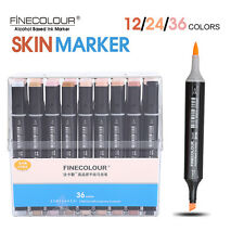 FineColour EF102 Skin Tone Colour Set Sketch Marker Pen Brush Tips Board Tips OB