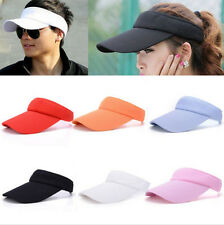 Men Women Visor Sun Plain Adjustable Hat Sports Cap Golf Tennis Beach Hats 0342