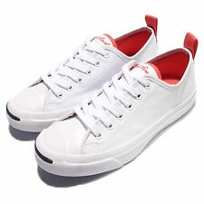 Converse Jack Purcell Jack OX White Red Unisex Heel Strap Shoes Sneakers 155720C