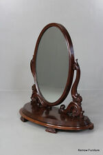 Large Oval Victorian Toilet Mirror