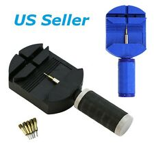 Wrist Bracelet Watch Band Link Slit Strap Remover Adjuster & 5 Pins Repair Tools