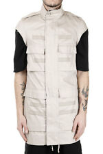 RICK OWENS New Men BEIGE PARKA cotton Jacket zipped Made in Italy NWT