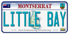 Montserrat Aluminum Any Name Personalized Novelty Car License Plate