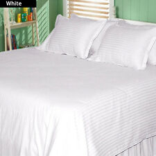 1200 TC 100%Egyptian Cotton Complete Bedding Items US Sizes Color White Striped