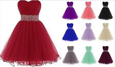 New stock Short Formal organza Evening Party Prom Bridesmaid Dress Size 6-20+++