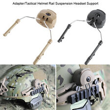 2pcs Tactical Helmet Arc Rail Suspension Headset Support For Peltor Comtac CL
