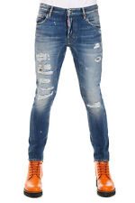 DSQUARED2 New Men Stretch Denim TIDY BIKER Jean Jeans Original Made in Italy