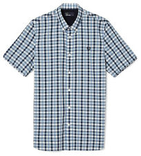 Fred Perry Men's Shirt With Herringbone Gingham Check In Slim Fit Sizes: S/M/L