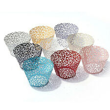 EF06 50 Filigree Little Vine Laser Cut Cupcake Wrapper Liner Baking Cup VC