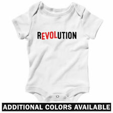 Love Revolution One Piece - Baby Infant Creeper Romper NB-24M - Revolt Protester