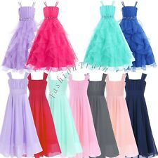 Chiffon Flower Girl Party Formal Princess Wedding Birthday Bridesmaid Dress 4-14