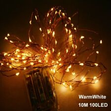 10M led battery copper wire string lights christmas wedding party decoration