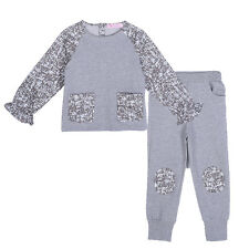 Girls T-shirt and Pants Set Kids Child Long Sleeve Print Top Trousers Outfit