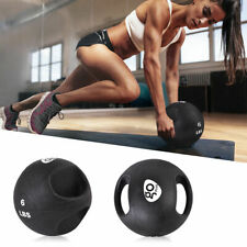Goplus Dual Grip Medicine Ball Fitness Weighted Training 6/8/10/12/14/16/20lbs