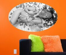 Erotic black white Mural sexy woman Wall stickers nude Wall Sticker 11C371