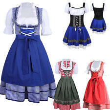 Cheers Traditional German Dirndl Fraulein Dress Oktoberfest - XMAS Party Costume