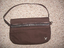 American Eagle Outfitters Brown Purse Wristlet Handbag CUTE