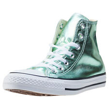 Converse Ct All Star Metallics Hi Womens Trainers Green Branded Footwear