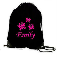 BUTTERFLY PERSONALISED GYM PE SWIM DANCE GAMES SPORTS SCHOOL BAG BIRTHDAY GIFT