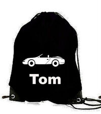 PERSONALISED SPORTS CAR BOYS PE SWIM  GAMES  SCHOOL GYM  BAG NAME BIRTHDAY GIFT