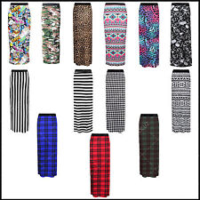 Ladies Womens Sexy Gypsy Maxi Skirt Printed Hot Hen Night Dance Party Costume •
